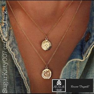 Delicate Layered Multilayer Moon Boho Necklaces